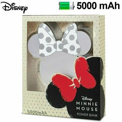Bateria Externa Micro-usb Power Bank 5000 mAh Universal Licencia Disney Minnie Plata