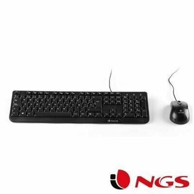 Teclado USB PC Kit Cocoa NGS Ratón + Teclado (Cable)