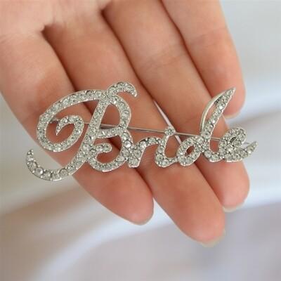 Crystal bride pin