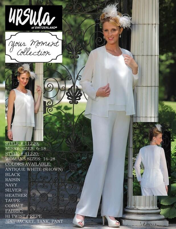 Ursula Ivory pantsuit size 14