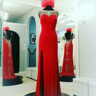 Red formal gown size 8/10