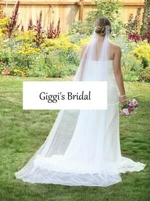 Chapel length Bridal Veil soft English net