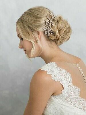 Bridal rose gold comb
