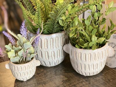 Ceramic Pot W Handles Medium