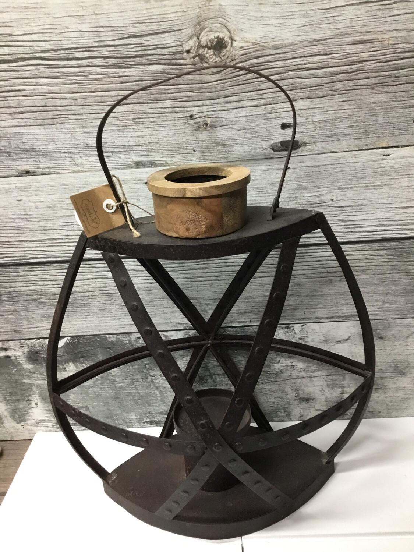 Small Rustic Strap Lantern