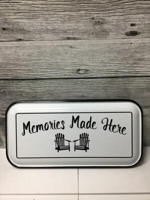 Memories Made Here Enamel Sign