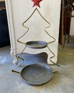(412) Two-Tier Christmas Tree Tray