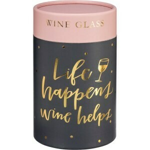 #40113 & #40114 Life Happens Stemless Wine Glass