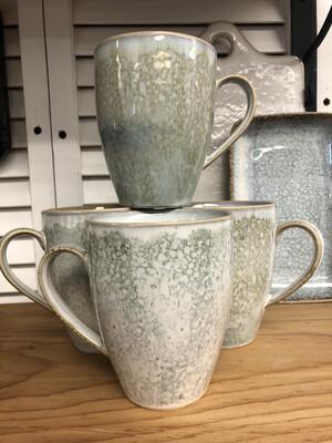 (233)   blue stoneware mug