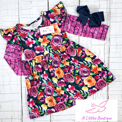 (197-1) Love Notes Dress 12-18M