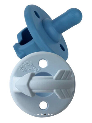 (331) Blue Pacifier Set