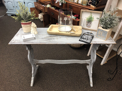 F9 Blue Distressed Sofa Table