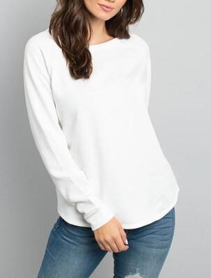 136 White Fleece Top