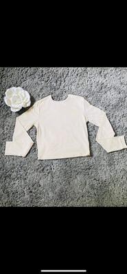 (127) Vanilla Bean Long Sleeve Crop Top