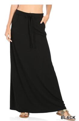 149 Black Maxi Skirt
