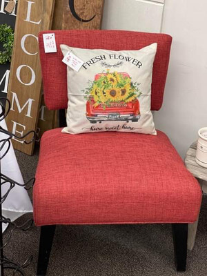 (391) Red Accent Chair