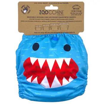 604 Zoocchini Cloth Diaper Shark