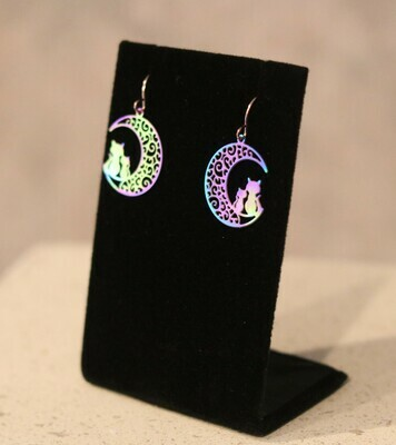 Cats on the Moon Earrings