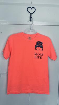 (163) Sm Pink Citrus Mom Life Pocket Tee