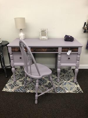Lavender Desk w/Chair