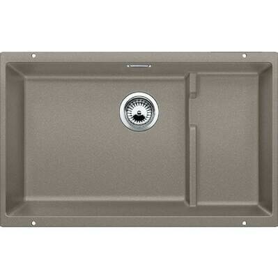 Blanco Precis Cascade Super Single Bowl Kitchen Sink - Truffle