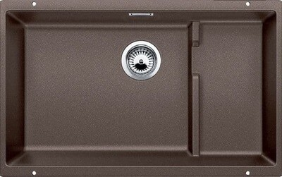 Blanco Precis Cascade Super Single Bowl Kitchen Sink - Cinder