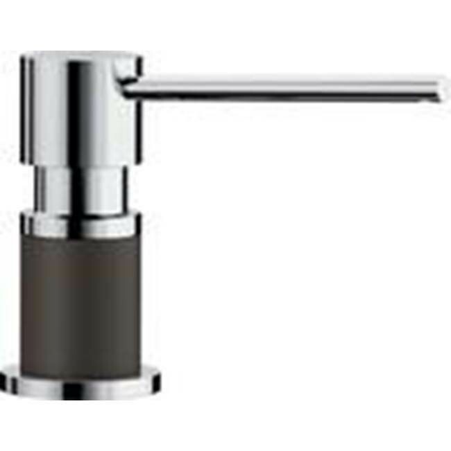 Blanco Lato Soap Dispenser - Cafe Brown/Chrome Dual Finish