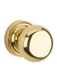Von Morris Door Hardware Large Mushroom Knob Small Rose-PASSAGE