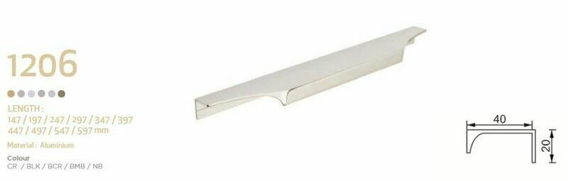 HandStyle Decorative Cabinet Hardware Modern Cabinet Handle 447mm #1206