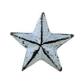 Charleston Knob Company  VINTAGE IRON DECO DISTRESSED GREY STAR CABINET KNOB