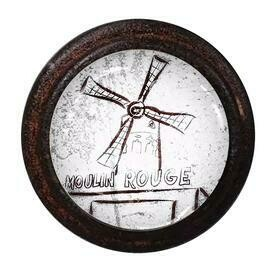 Charleston Knob Company Cafe Collection Moulin Rouge Cafe Brown Iron Cabinet Knob