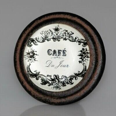 Charleston Knob Company Cafe Collection Organic Cuisine Cafe Brown Iron Cabinet Knob