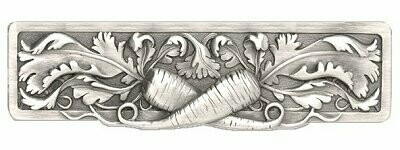 Notting Hill Cabinet Pull Leafy Carrot Antique Pewter 4-7/8