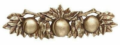 Notting Hill Cabinet Pull Georgia Peach  Antique Brass 5