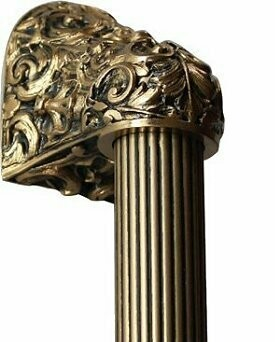 Notting Hill Cabinet Hardware Acanthus/Fluted Bar 24K Satin Gold Overall 12