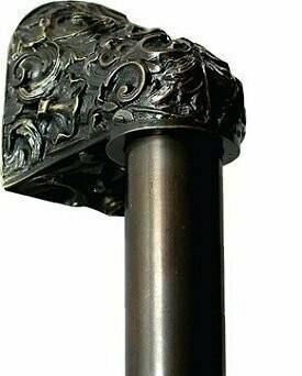 Notting Hill Cabinet Hardware Acanthus/Plain Bar Dark Brass Overall 12