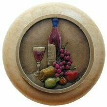 Notting Hill Cabinet Knob Best Cellar Wine/Natural Brass Hand Tinted 1-1/2