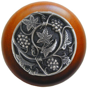 Notting Hill Cabinet Knob Grapevines/Cherry Antique Pewter 1-1/2