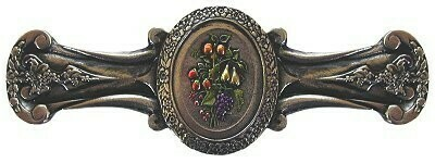 Notting Hill Cabinet Pull Fruit Bouquet Brite Nickel Hand Tinted 4-1/8
