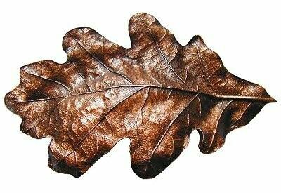 Notting Hill Cabinet Hardware Oak Leaf Cabinet Bin Pull Antique Copper 4-5/8