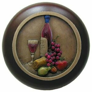 Notting Hill Cabinet Pull Best Cellar (Wine)/Dark Walnut Brass Hand Tinted 1-1/2