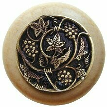 Notting Hill Cabinet Knob Grapevines/Natural Antique Brass 1-1/2