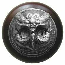Notting Hill Cabinet Knob Wise Owl/Dark Walnut Antique Pewter1-1/2