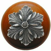 Notting Hill Cabinet Knob Opulent Flower/Cherry Antique Pewter  1-1/2