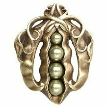 Notting Hill Cabinet Knob Pearly Peapod Antique Brass 1-5/8