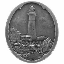 Notting Hill Cabinet Knob Guiding Lighthouse Antique Pewter 1-1/4