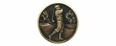 Notting Hill Cabinet Knob Gentleman Golfer Antique Brass 1-1/8