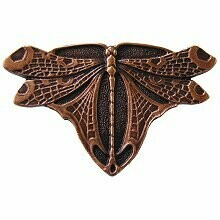 Notting Hill Cabinet Knob Dragonfly Antique Copper 1-3/4