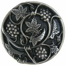 Notting Hill Cabinet Knob Grapevines Antique Pewter 1-5/16