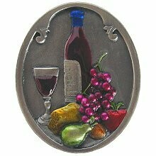 Notting Hill Cabinet Knob Best Cellar (Wine) Pewter Hand Tinted 1-1/4